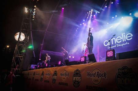"merce: BARCELONA - SEP 21: Amelie performs at the ""Hard Rock Rocks La Merce concert within La Merce celebrations on September 21, 2012 in Barcelona, Spain Editorial"