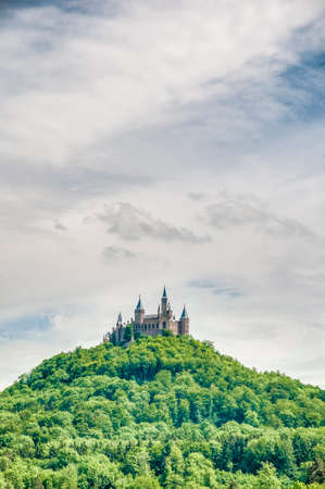 Hohenzollern Castle (Burg Hohenzollern) at the swabian region of Baden-Wurttemberg, Germany photo