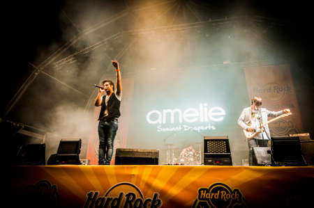 "merce: BARCELONA - SEP 21: Amelie performs at the ""Hard Rock Rocks La Merce concert within La Merce celebrations on September 21, 2012 in Barcelona, Spain"