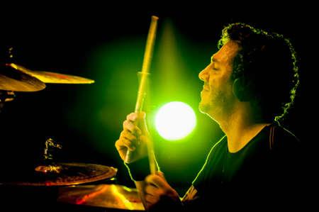 merce: BARCELONA - SEP 22: Jesus Antunez member of Dover performs at the Hard Rock Rocks La Merce concert within La Merce celebrations on September 22, 2012 in Barcelona, Spain