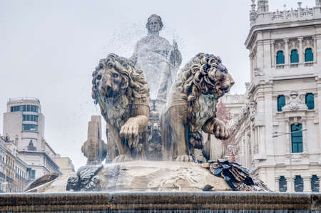 cibeles: Cibeles Fountain located downtown Madrid, Spain Stock Photo