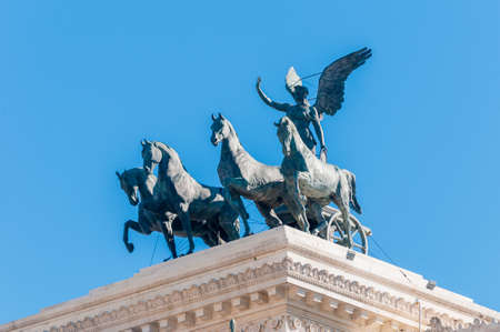 mundi: Monumento Nazionale a Vittorio Emanuele II (National Monument to Victor Emmanuel II) or Altare della Patria (Altar of the Fatherland) built in honour of Victor Emmanuel in Rome, Italy.