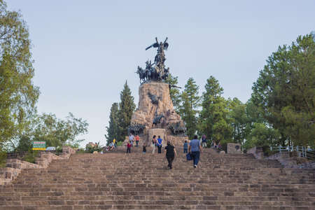 mendoza: Monument to the Army of the Andes at the top of the Cerro de la Gloria at the General San Martín Park, inaugurated on February 12, 1914, anniversary of the Battle of Chacabuco in Mendoza, Argentina.
