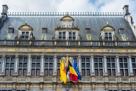 wallonie: Tournai town hall, originally founded as a Benedictine Abbey in Belgium.