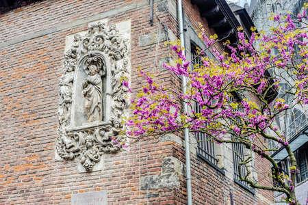 wallonie: Joseph Warichez memorial in Tournai, Belgium Stock Photo
