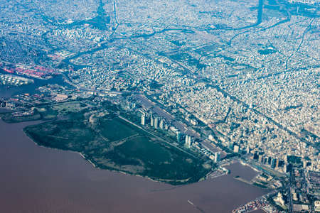buenos: Buenos Aires city center bird eye view in Argentina.