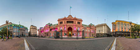 buenos: Casa Rosada building facade located at Mayo square in Buenos Aires, Argentina.