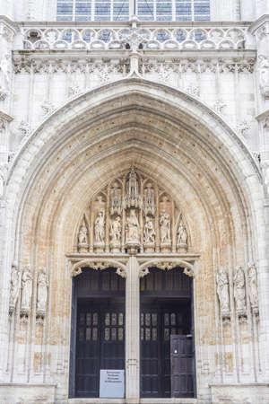 bruxelles: The Notre-Dame du Sablon (Onze-Lieve-Vrouw ten Zavel) in Brussels, Belgium
