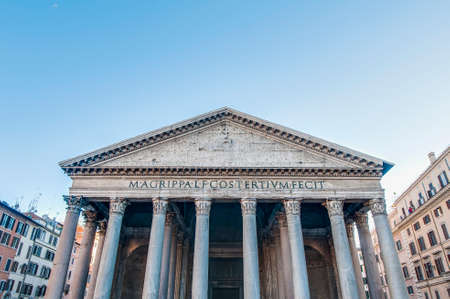 The Pantheon, commissioned by Marcus Agrippa during the reign of Augustus as a temple to all the gods of ancient Rome in Italy photo
