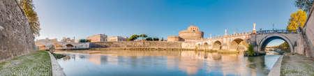 mundi: The Tiber (Tevere) river, the third-longest river in Italy, passing through Rome. Editorial