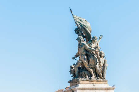 caput: Monumento Nazionale a Vittorio Emanuele II (National Monument to Victor Emmanuel II) or Altare della Patria (Altar of the Fatherland) built in honour of Victor Emmanuel in Rome, Italy.