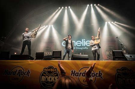 merce: BARCELONA - SEP 21: Amelie performs at the Hard Rock Rocks La Merce concert within La Merce celebrations on September 21, 2012 in Barcelona, Spain Editorial