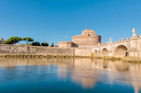 caput: The Tiber (Tevere) river, the third-longest river in Italy, passing through Rome. Editorial