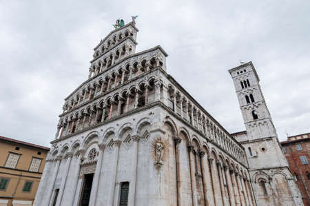 san michele: San Michele in Foro, a Roman Catholic basilica church built over the ancient Roman forum in Lucca, Tuscany, central Italy.
