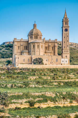 ta: The National Shrine of the Blessed Virgin of Ta Pinu, parish church and minor basilica located near Gharb on the island of Gozo, Malta