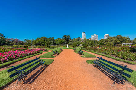 tres: Rose Park on Parque Tres de Febrero, also known as the Bosques de Palermo (Palermo Woods), a 400 hectares urban park located in the neighborhood of Palermo in Buenos Aires, Argentina.