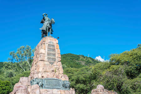 defended: Monument to Martin Miguel de Guemes, a military leader and caudillo who defended Argentina