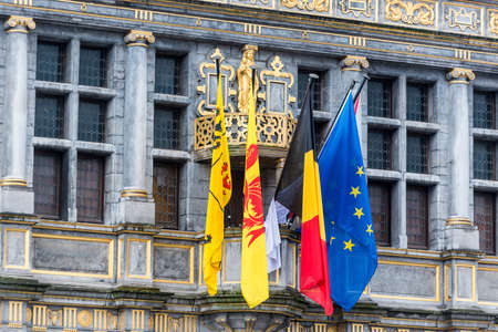 Tournai town hall, originally founded as a Benedictine Abbey in Belgium.