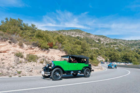 maxwell: SITGES, SPAIN - MARCH 11: Germans Badal drives a 1923 Maxwell 25 on the second phase of the 54th Rally of Ancient Cars Barcelona-Sitges on March 11, 2012 in Sitges, Spain. Editorial