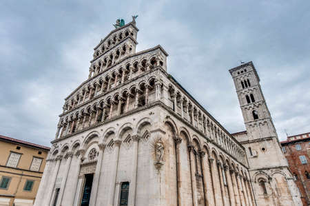 lucca: San Michele in Foro, a Roman Catholic basilica church built over the ancient Roman forum in Lucca, Tuscany, central Italy.