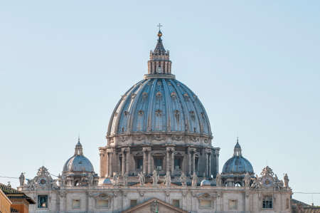 The Papal Basilica of Saint Peter in the Vatican (Basilica Papale di San Pietro in Vaticano), commonly known as Saint Peters Basilica located within Vatican City in Rome, Italy