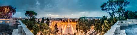 mundi: Piazza del Popolo (Peoples Square) named after the church of Santa Maria del Popolo in Rome, Italy Stock Photo