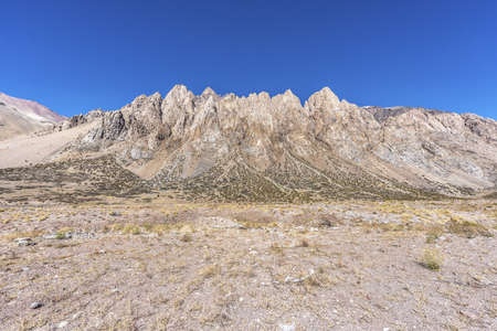 Penitentes Mountain Ridge in Mendoza, Argentina photo