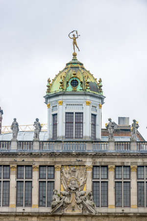 the place is important: Guildhalls on Grand Place (Grote Markt), the central square of Brussels, its most important tourist destination and the most memorable landmark in Brussels, Belgium.