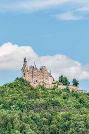 Hohenzollern Castle (Burg Hohenzollern) at the swabian region of Baden-Wurttemberg, Germany