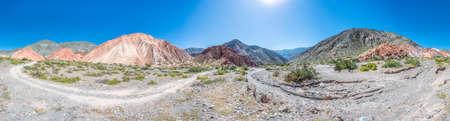 colores: Los Colorados path in Purmamarca, near Cerro de los Siete Colores