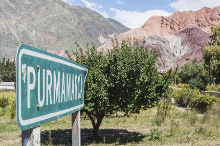 siete: Sign near Cerro de los Siete Colores
