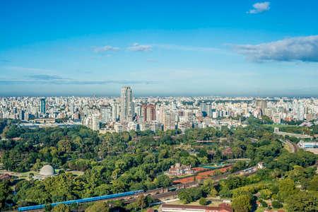 buenos: Palermo gardens bird eye view in Buenos Aires, Argentina.