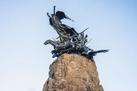 Monument to the Army of the Andes at the top of the Cerro de la Gloria at the General San Martín Park, inaugurated on February 12, 1914, anniversary of the Battle of Chacabuco in Mendoza, Argentina.