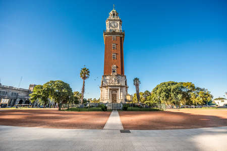 monumental: Monumental Tower located on Retiro neighborhood in Buenos Aires, Argentina