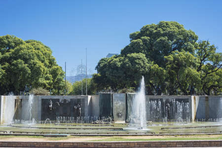 Independence Square (Plaza Independencia), the biggest and most important square in Mendoza city, Argentina Stock Photo - 26014155