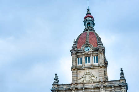 groyne: A Coruna Town Hall located on Maria Pita Square in Galicia, Spain.