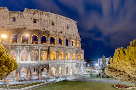 caput: The Colosseum, or the Coliseum, originally the Amphitheatrum Flavium, an elliptical amphitheatre in Rome, Italy. Stock Photo