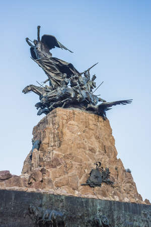 gloria: Monument to the Army of the Andes at the top of the Cerro de la Gloria at the General San Martin Park, inaugurated on February 12, 1914, anniversary of the Battle of Chacabuco in Mendoza, Argentina.