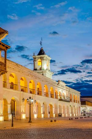 colonial building: El Cabildo de Salta, un edificio colonial en Salta, Argentina