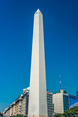 obelisco: BUENOS AIRES, ARGENTINA - APR 08: The Obelisk (El Obelisco), the most recognized landmark in the capital on Apr 08, 2013 in Buenos Aires, Argentina.