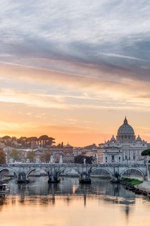 hadrian: Ponte SantAngelo, once the Aelian Bridge or Pons Aelius (Bridge of Hadrian) in Rome, Italy,