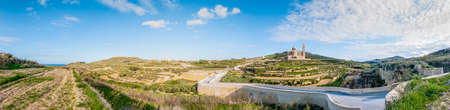 pano: The National Shrine of the Blessed Virgin of Ta Pinu, parish church and minor basilica located near Gharb on the island of Gozo, Malta