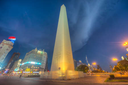 obelisco: BUENOS AIRES, ARGENTINA - APR 09: The Obelisk (El Obelisco), the most recognized landmark in the capital on Apr 09, 2013 in Buenos Aires, Argentina. Editorial