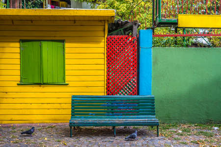 Colorful houses at Caminito street in La Boca, Buenos Aires, Argentina Stock Photo
