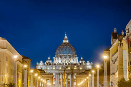The Papal Basilica of Saint Peter in the Vatican (Basilica Papale di San Pietro in Vaticano), commonly known as Saint Peter's Basilica located within Vatican City in Rome, Italy photo