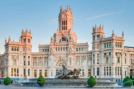 cibeles: Cibeles Fountain located downtown Madrid, Spain Editorial