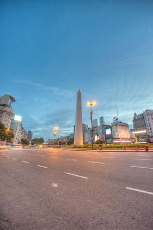BUENOS AIRES, ARGENTINA - APR 12: The Obelisk (El Obelisco), the most recognized landmark in the capital on Apr 12, 2013 in Buenos Aires, Argentina.