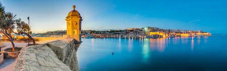 Fort Saint Michael gardjola (watch tower) in Senglea, Malta Editorial