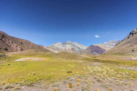 aconcagua: Aconcagua, the highest mountain in the Americas at 6.960m, located in the Andes mountain range in Mendoza, Argentina.