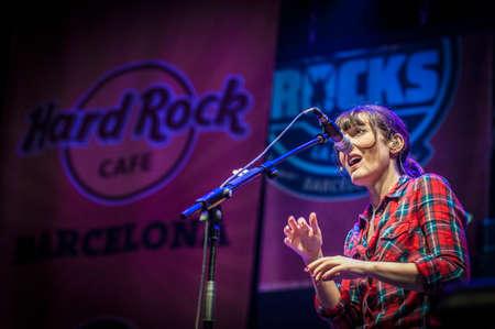 merce: BARCELONA - SEP 22: Cristina Llanos member of Dover performs at the Hard Rock Rocks La Merce concert within La Merce celebrations on September 22, 2012 in Barcelona, Spain